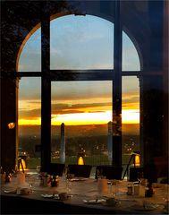 Blick durch die Gaststätte im Lingner Schloss