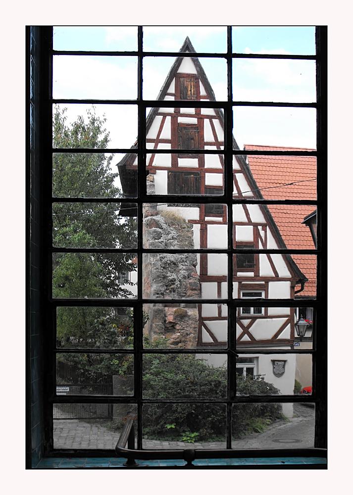 Blick durchs Fenster...