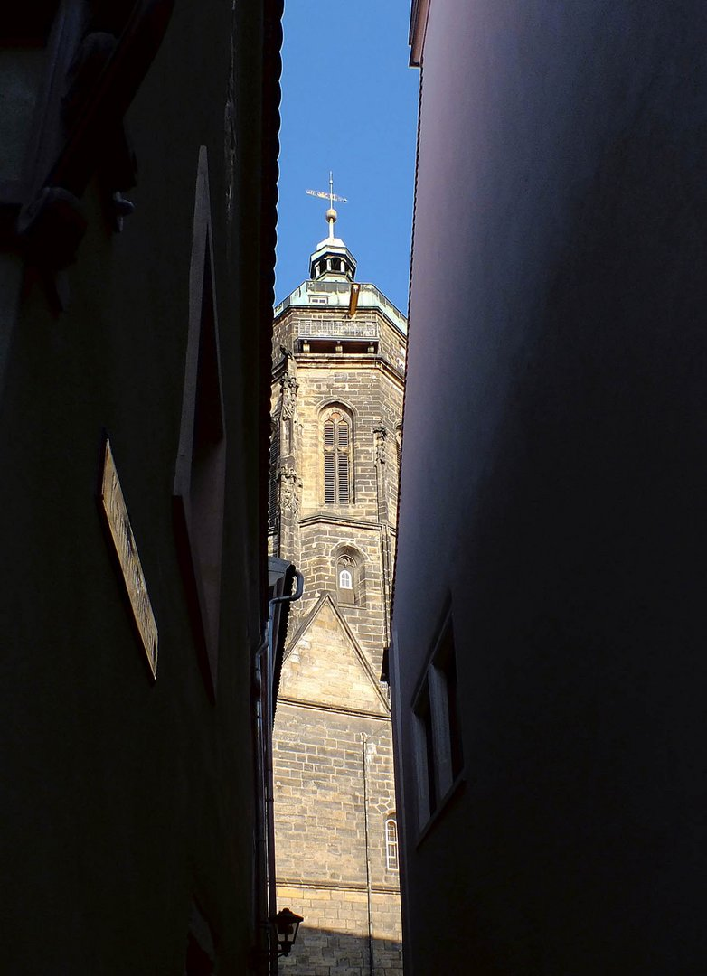 Blick durchs Kantorgässchen, Pirna