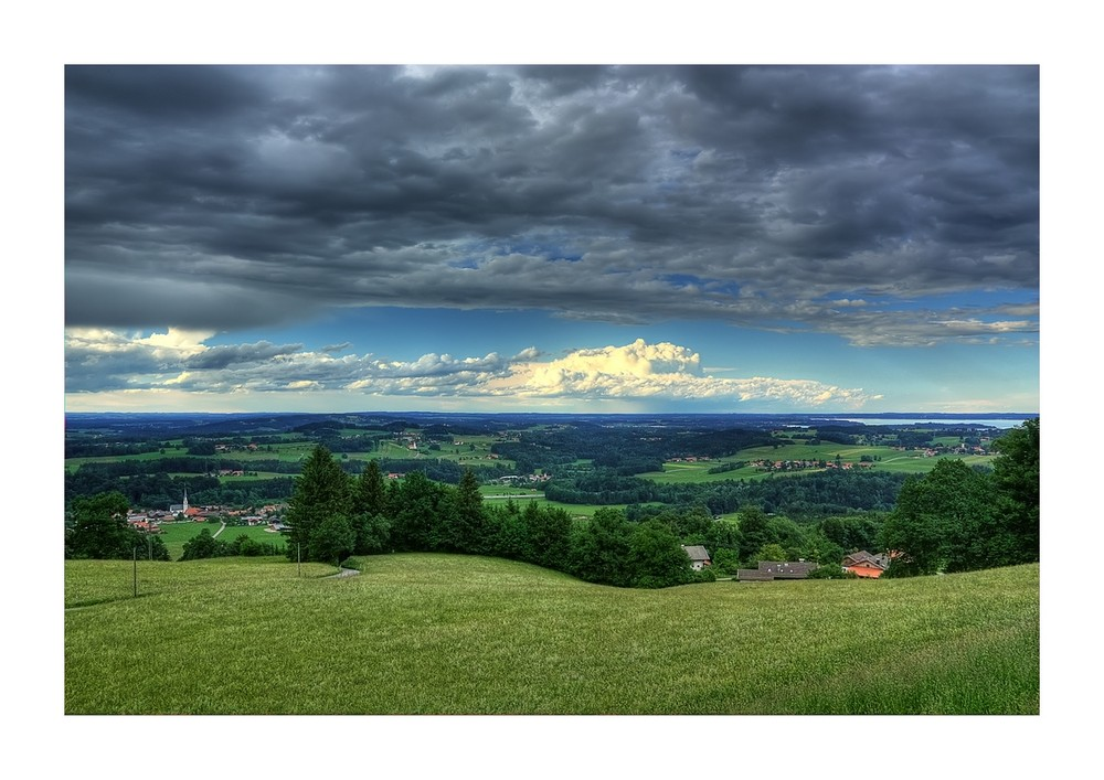 Blick in Chiemgau vom Sagberg bei Frasdorf