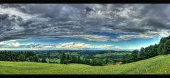 Blick in Chiemgau vom Sagberg bei Frasdorf Panorama