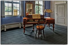 Blick in das Musikzimmer