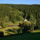 Blick in das Tal der Preßnitz ...
