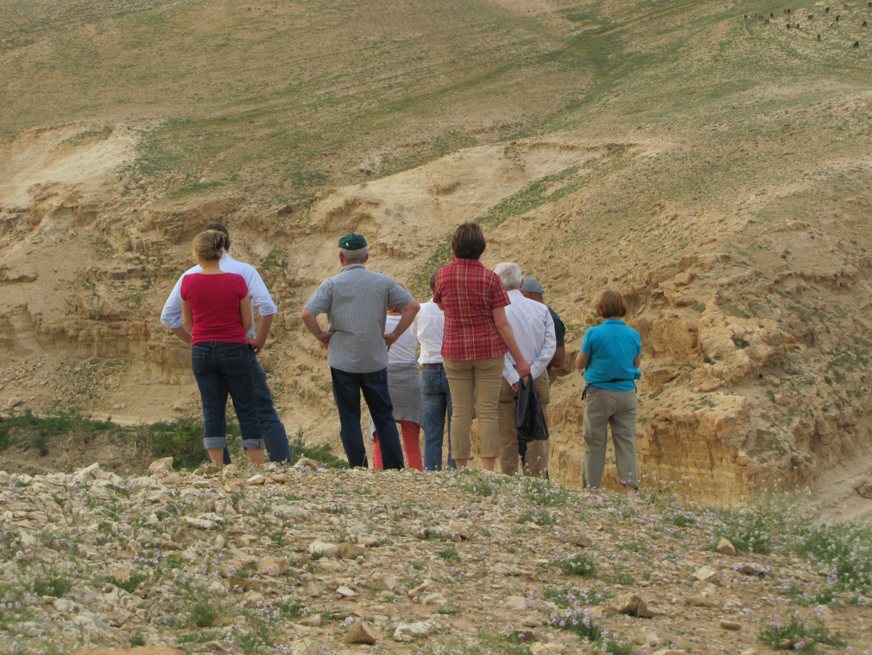 Blick in das Wüstental - Wadi Kelt/Israel