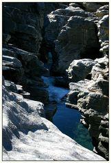 "Blick in den ""Canyon"" der Maggia"