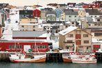 Blick in den Hafen von Vardø