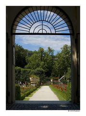 Blick in den Rosengarten...