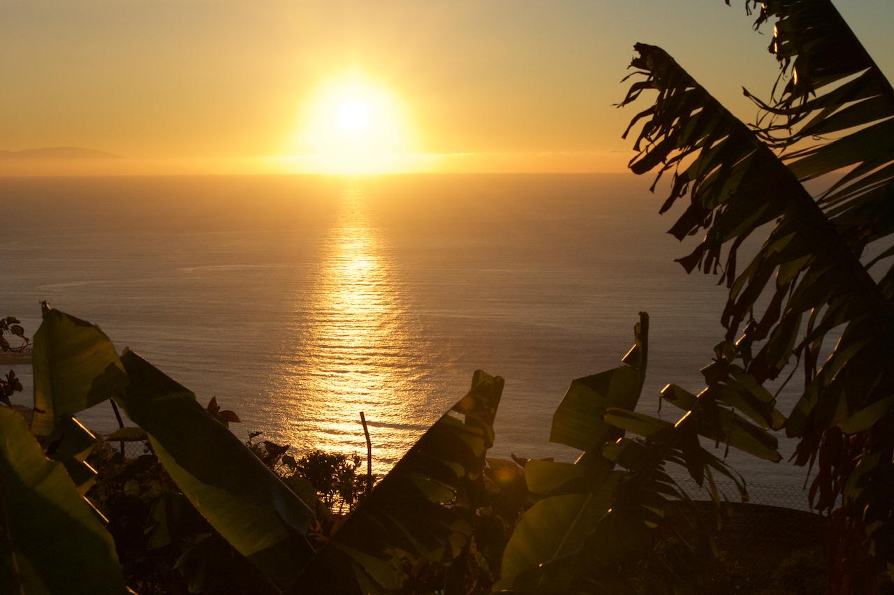 Blick in den Sonnenuntergang