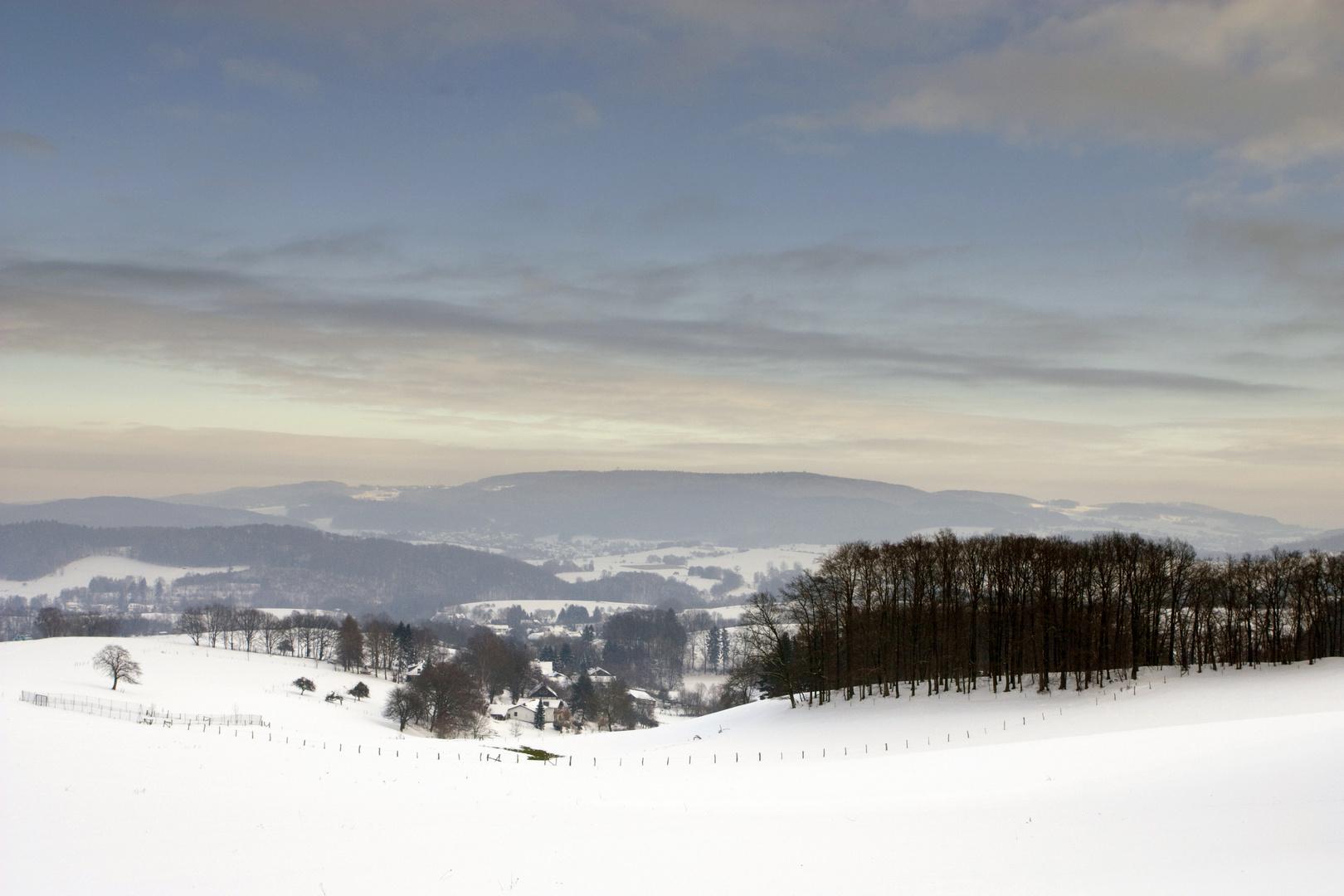 Blick in den winterlichen Odenwald #2