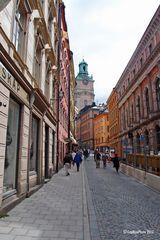 Blick in die Altstadt von Stockholm