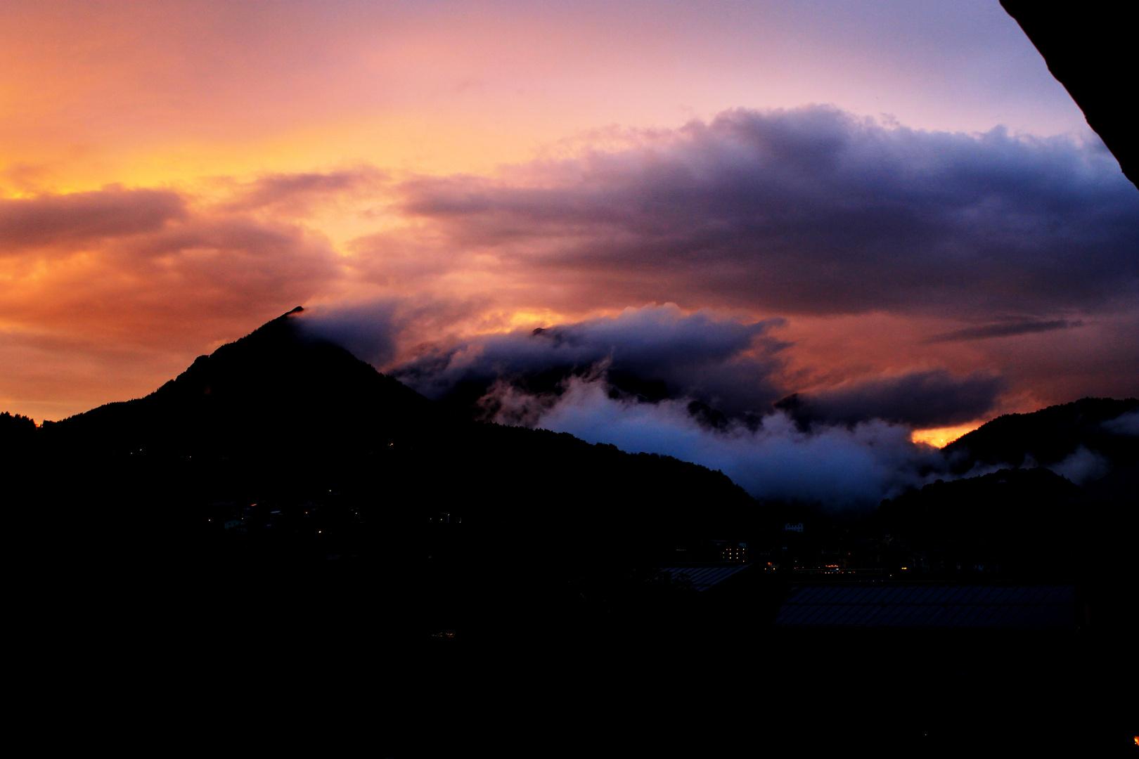 Blick in die Berchtesgadener Alpen