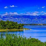 Blick in die Berge Kroatiens