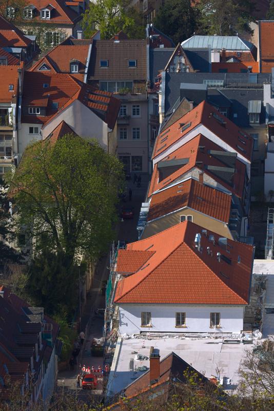 Blick in die Friedrichstraße + Hauptstraße (Altstadt)
