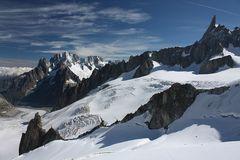 Blick in die Gletscherwelt des Mt. Blanc-Gebietes