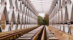 Blick in die Klinkerhafenbrücke...