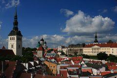 Blick in die Oberstadt von Tallinn