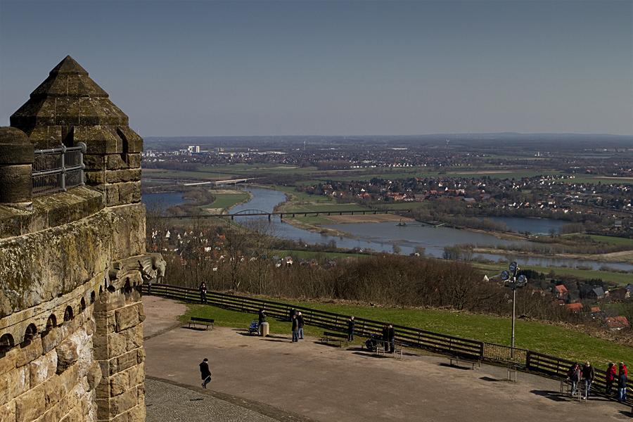 Blick in die Porta Westfalica