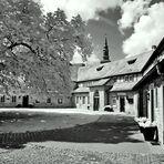 Blick in die Vorburg des Schlosses in Büdingen