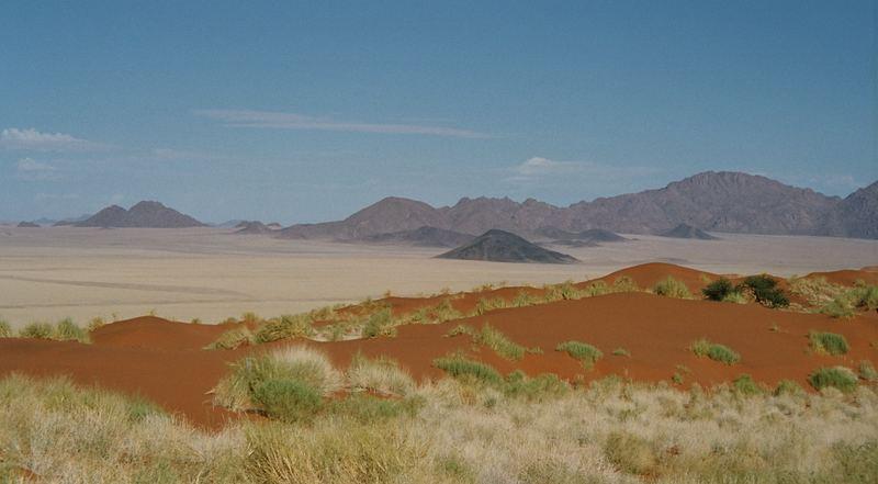 Blick in die Weite der Wüste