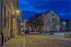Blick in die Wilhelmstrasse in Aschersleben