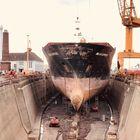 Blick in eine Werft