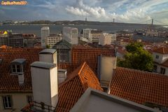 Blick in Richtung Tejo Nähe Miradouro de Santa Catarina