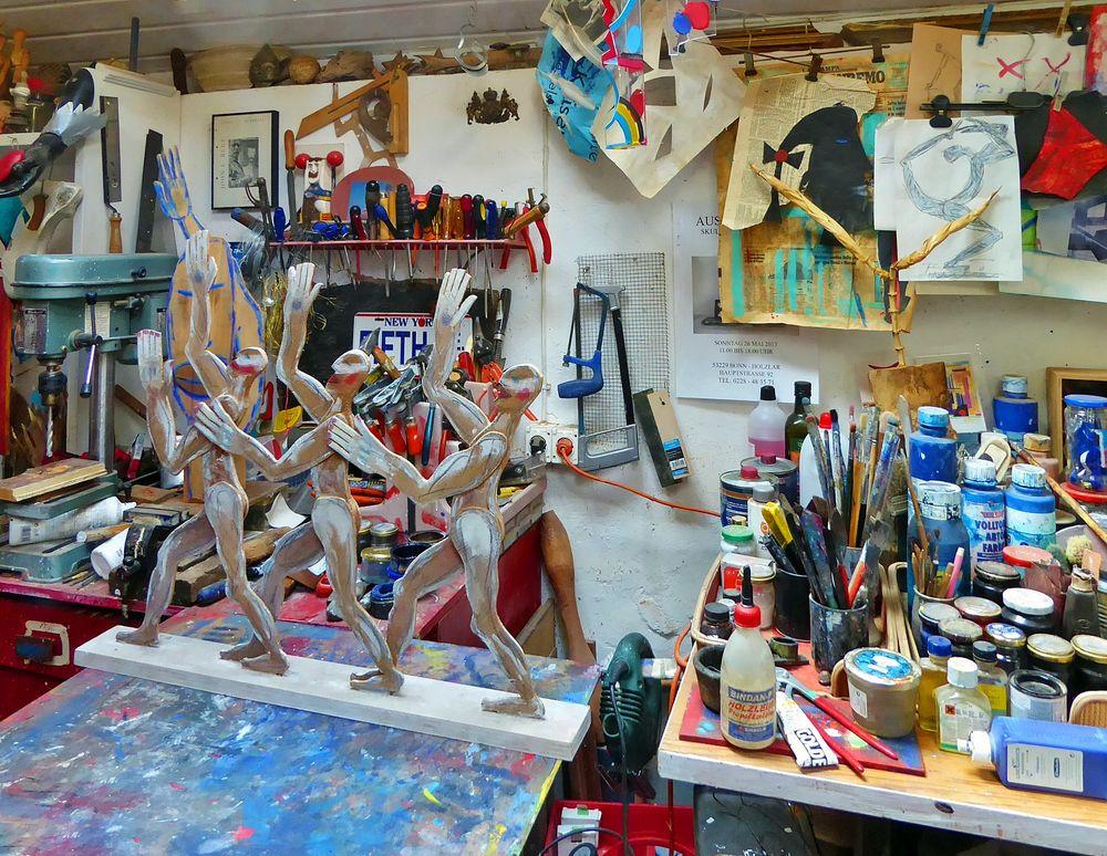 Blick in' s Atelier ...