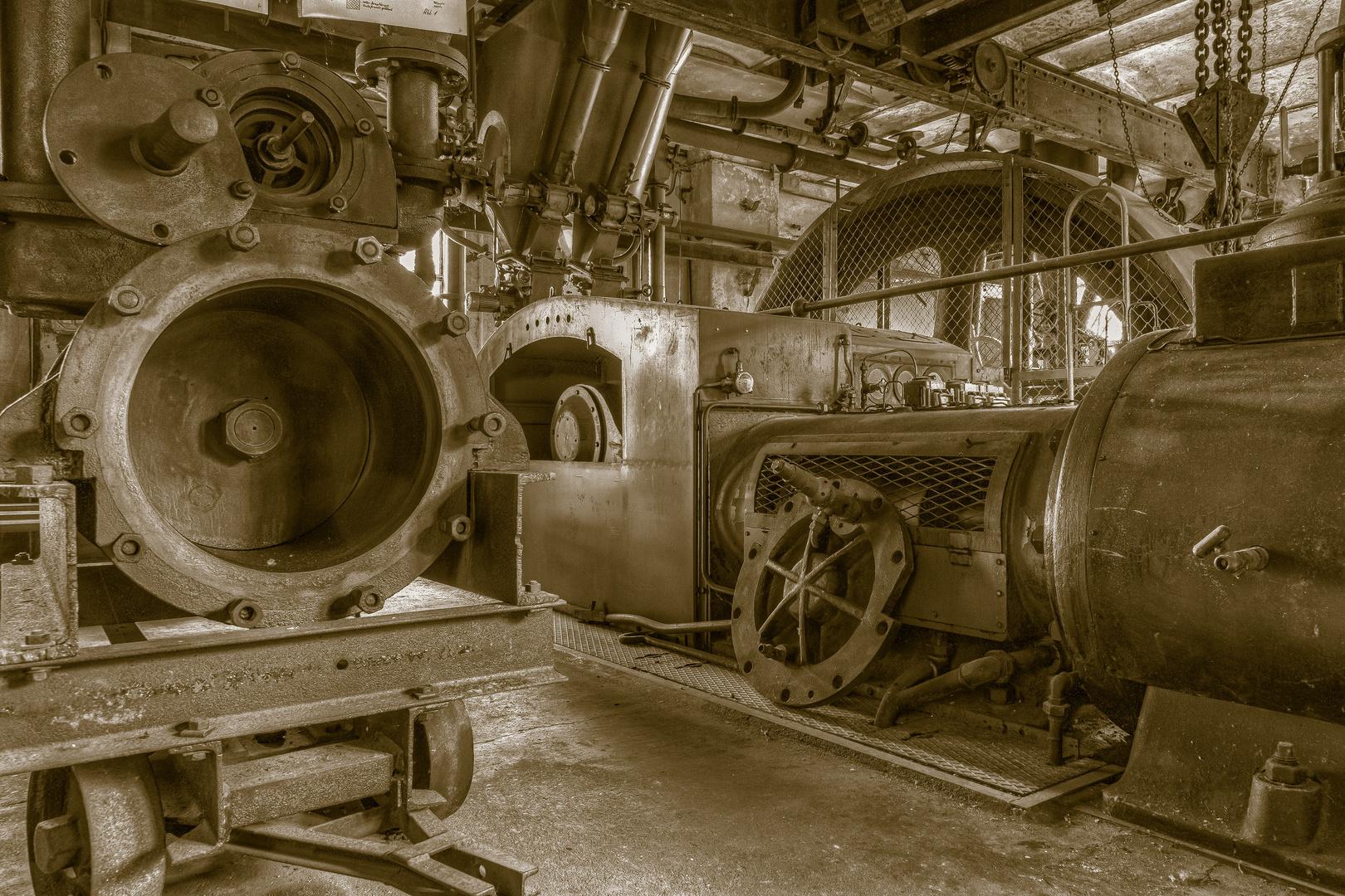 Blick in verlassene Industrieanlage