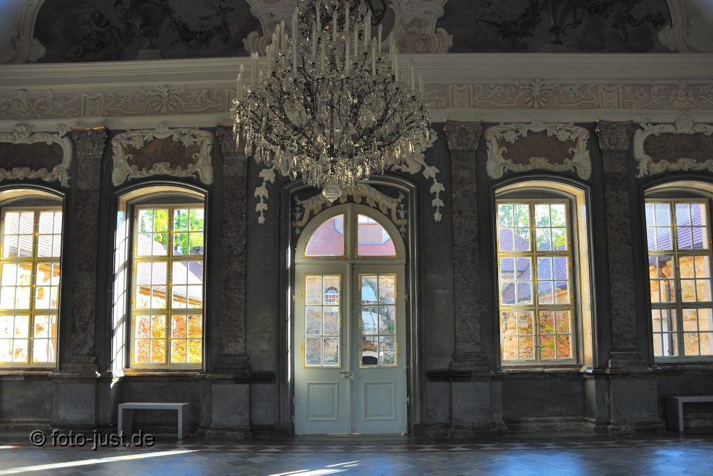 Blick ins alte Schloss, Eremitage Bayreuth
