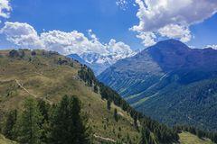 Blick ins Bernina-Massiv