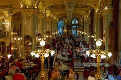Blick ins Café New York