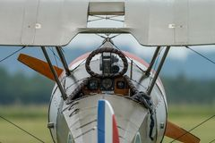 Blick ins Cockpit der Sopwith Camel