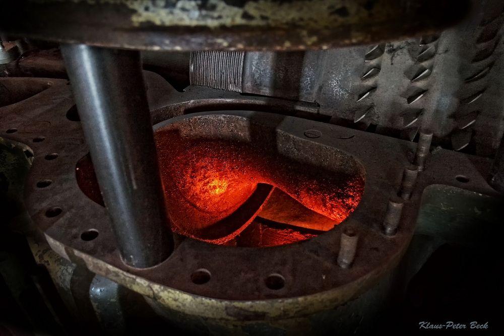 Blick ins Innere einer Dampfturbine.