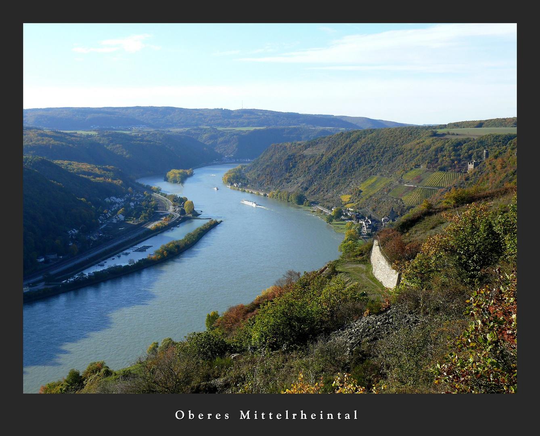 Blick ins Obere Mittelrheintal...