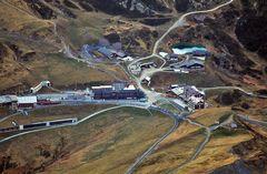 """Blick ins """"Spielzeugland"""" aus 3450 Metern vom Jungfraujoch"""
