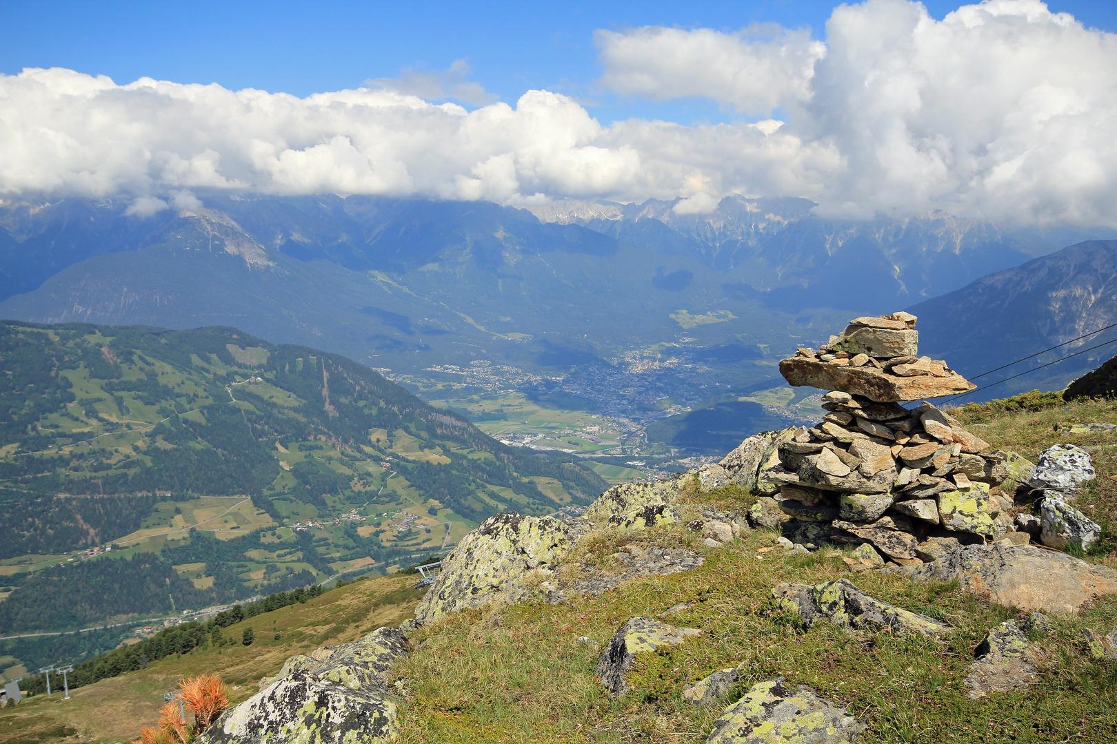 Blick ins Tal vom Sechszeiger bei Jerzens/Tirol (Pitztal)