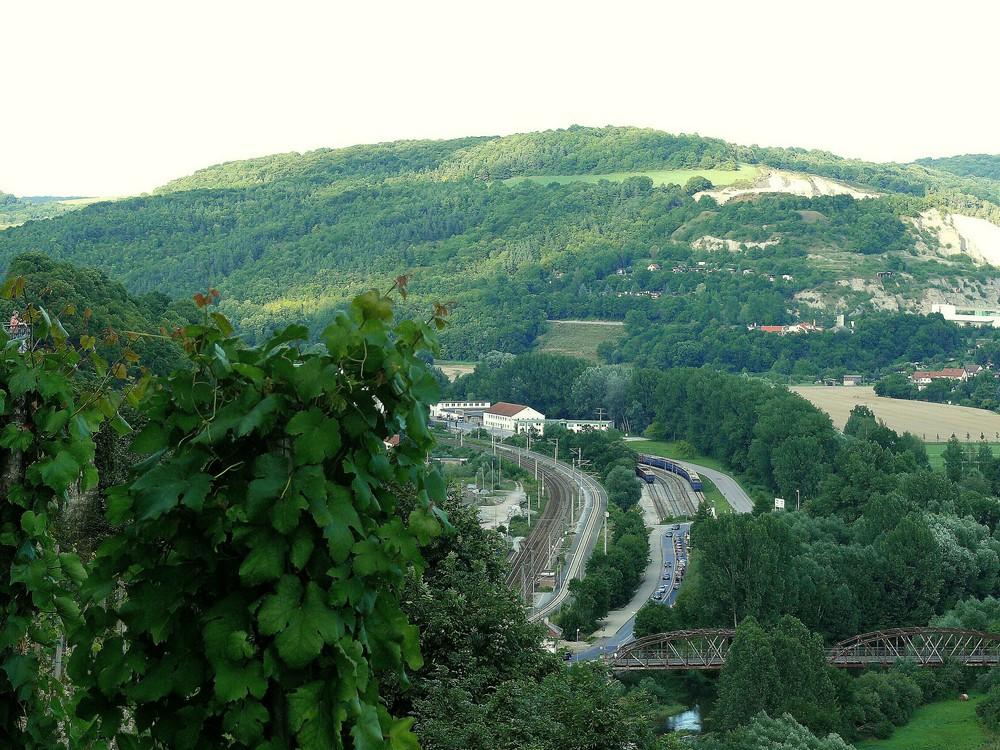 Blick ins Tal von den Dornburger Schlössern