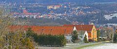 Blick nach Pirna an der Elbe von Niederseidewitz aus...