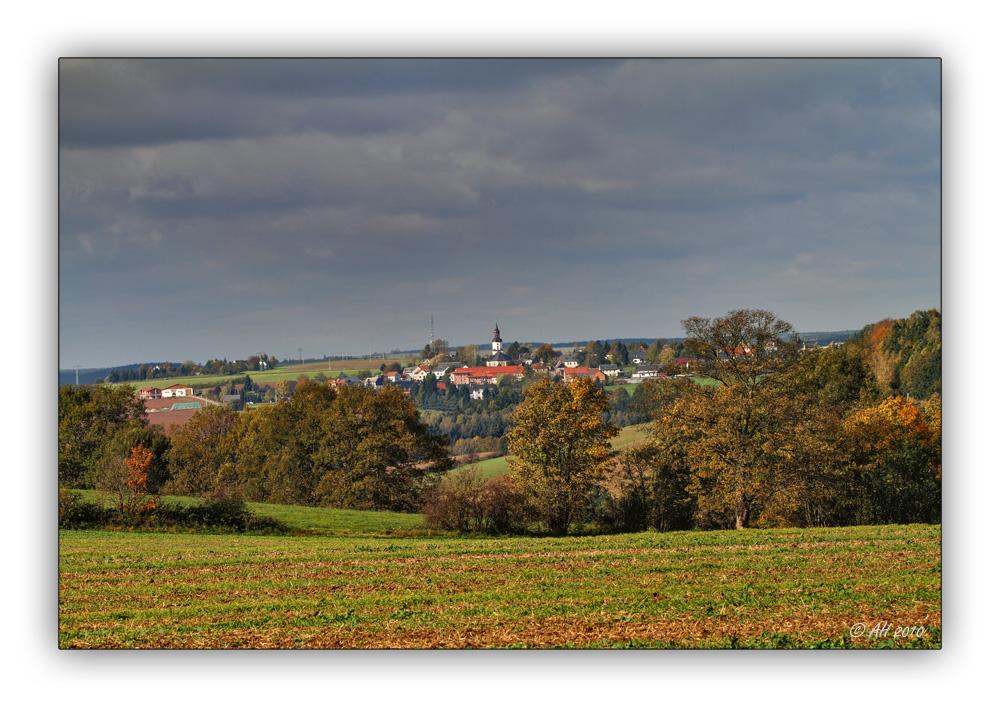 Blick nach Reinsdorf,. ..