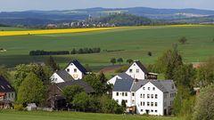 Blick nach Stolpen von Hohburkersdorf aus...