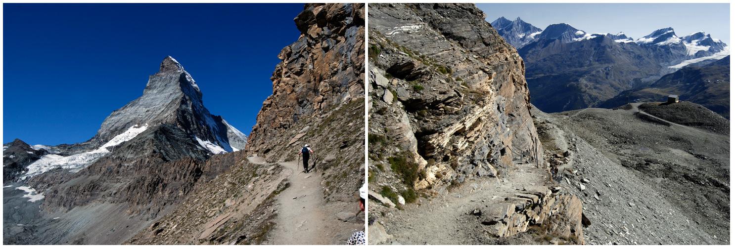Blick nach vorn und dann ins Tal