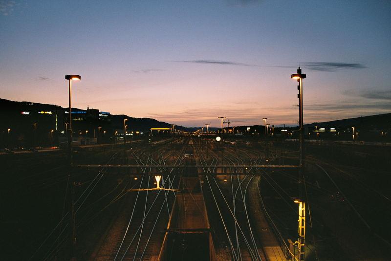 Blick nach Westen... Noch kein Zug in Sicht...