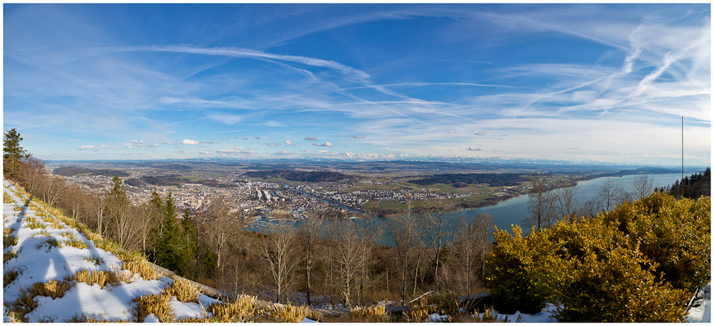 Blick Richtung Alpen von Magglingen