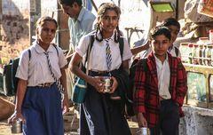 Blick street Schulmädchen India
