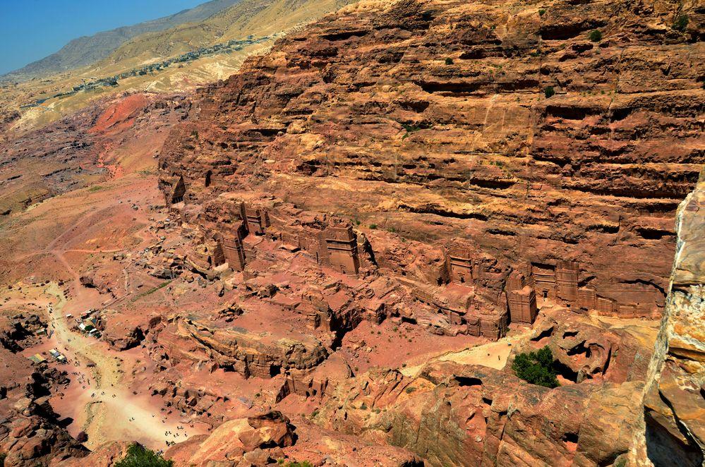 Blick über das alte Zentrum von Petra