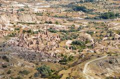 Blick über das Devrent-Tal in Kappadokien
