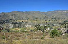 Blick über das Gebiet des Colca-Canyons