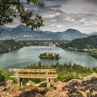 Blick über den Bleder See