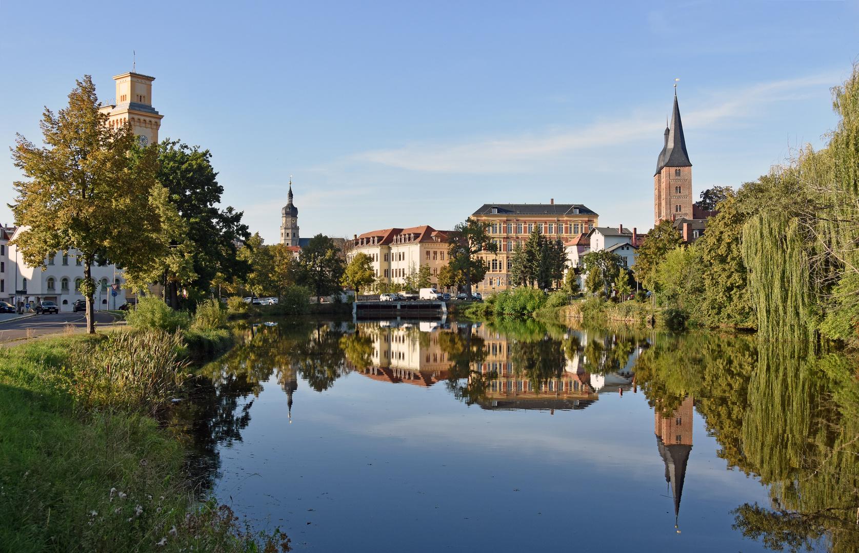 Blick über den Kleinen Teich in Altenburg