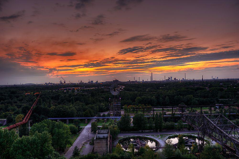 Blick über den Landschaftspark Duisburg